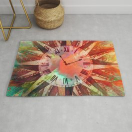 Synchronicity 11:11 Clock Face Time Design Rug