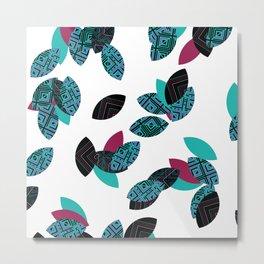 Aztec leafs Ioo Metal Print