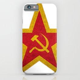 USSR Cold War Soviet Union Flag Communist Star Communism Russia iPhone Case