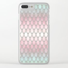 Pretty Mermaid Scales 19 Clear iPhone Case