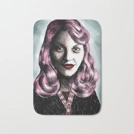 Sylvia Plath_Pink Blue Bath Mat