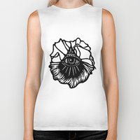 third eye Biker Tanks featuring Third Eye by Cecile Psicheer