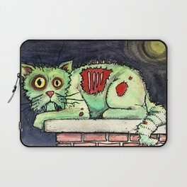 zombie cat on the wall Laptop Sleeve