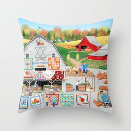 Autumn Quilts Throw Pillow