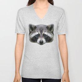 Raccoon // Mint Unisex V-Neck