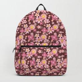 Floral Wind Wine Red Backpack