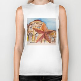 The Bullock Texas State History Museum Watercolor Biker Tank