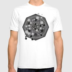 Ace of spades and star mandala Mens Fitted Tee MEDIUM White