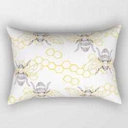 Honey Bee Pattern Rectangular Pillow