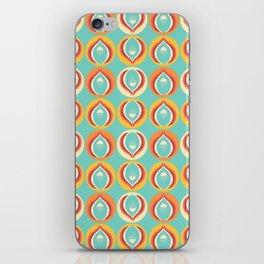 50's floral pattern V iPhone Skin