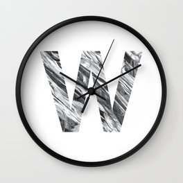 The Letter W- Stone Texture Wall Clock