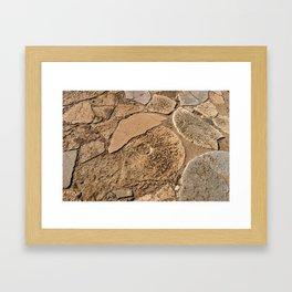 Broken millstones Framed Art Print