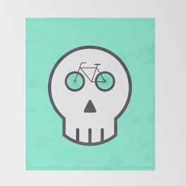 Rider Skull Throw Blanket
