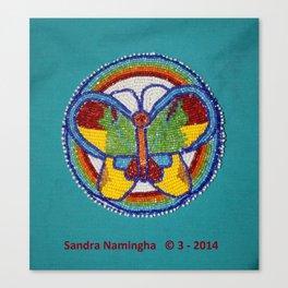 Beaded Butterfly Medallion Canvas Print