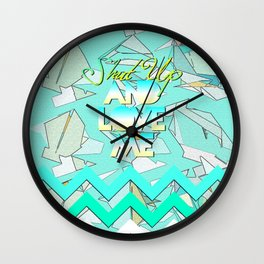 SHUT UP AND LOVE ME © AQUA LIMITED EDITION Wall Clock