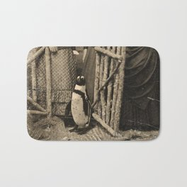 Antique Tintype Penguin Bath Mat