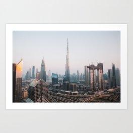 Dubai Skyline Sunset | Travel Photography | Art Print