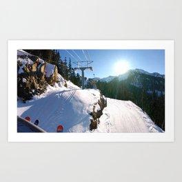 Mountains transport Art Print