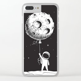 Fly Moon Clear iPhone Case