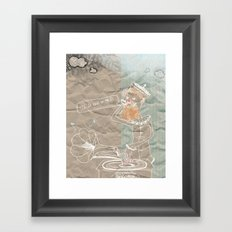 It's so cold in the D Framed Art Print