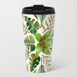 Tropical Symmetry – Olive Green Travel Mug