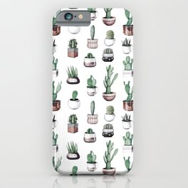Cactus + Succulents Rose Gold Pattern by Nature Magick iPhone Case