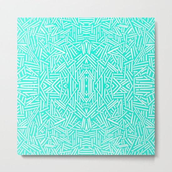 Radiate (Mint) Metal Print