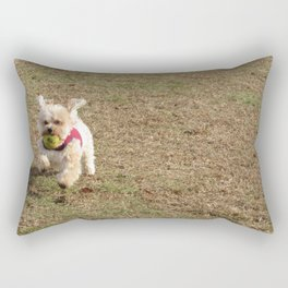 Copper running at the park Rectangular Pillow