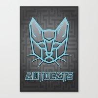 transformers Canvas Prints featuring Autocats Transformers by Enrique Valles