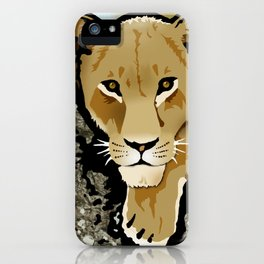 The Lesbian & the Lioness iPhone Case