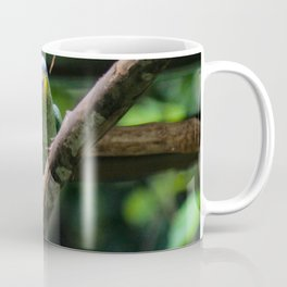 green parrot blue head Coffee Mug