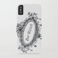 bar iPhone & iPod Cases featuring Bar Wench by Andrea Jean Clausen - andreajeanco