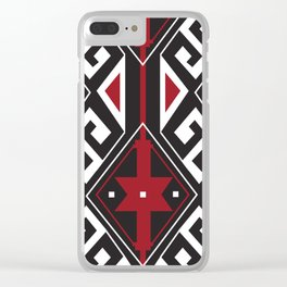 American Native Pattern No. 258 Clear iPhone Case