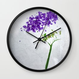 Botanical Blueprints - Statice Wall Clock