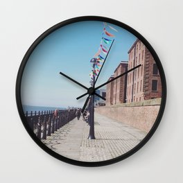 Bunting on the dock Wall Clock