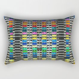 Absolute Colorful World Extravagance Architectural Photograph Rectangular Pillow