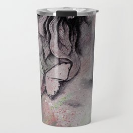 Sugar Coated Sour: Pomegranate (nude curvy pin up with butterflies) Travel Mug