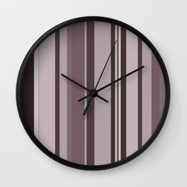 Stripes in colour 11 Wall Clock