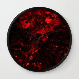 Red Blood Splatter Wall Clock