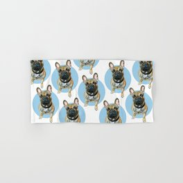 French Bulldog blue spot. Hand & Bath Towel