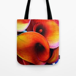 Orange Calla Lillies Tote Bag