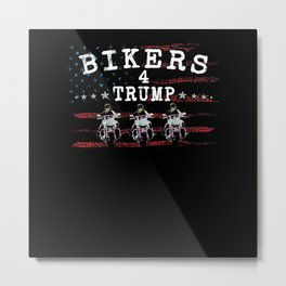 Bikers for Trump Print on Back 2020 Metal Print