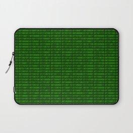 Binary numbers pattern in green Laptop Sleeve