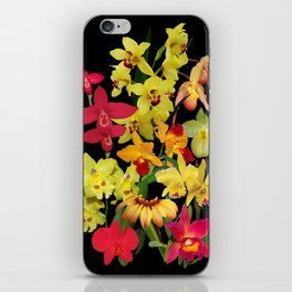 Orchids - Hot Colors! iPhone Skin