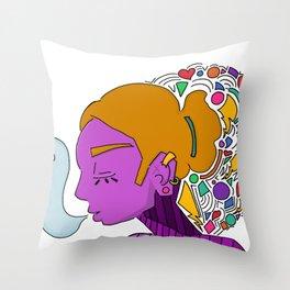 Cross Faded Throw Pillow