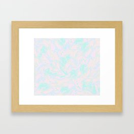 BLUE AND PINK PAINT SWIRL Framed Art Print