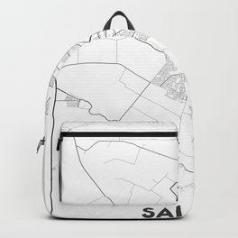 Minimal City Maps - Map Of Salinas, California, United States Backpack