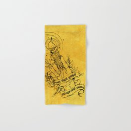 Candle Light Hope (Yellow Colors) Hand & Bath Towel