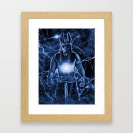 LORD ANUBIS Framed Art Print