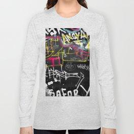 New York Traces - Urban Graffiti Long Sleeve T-shirt